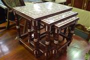 Sale 8545 - Lot 1033 - Mother of Pearl Inlaid Nest of Three Tables