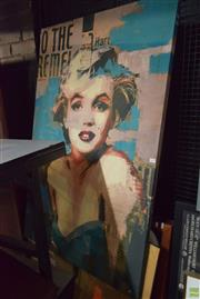 Sale 8592 - Lot 2087 - Print on Canvas of Marilyn Monroe