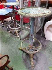 Sale 8625 - Lot 1013 - Pair of Vintage Rustic Metal Stools (H: 74cm)
