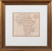 Sale 8625A - Lot 97 - A framed map; Africa, from the latest Authorities, Published as the Act Direct by C Brig Lily, Bungay Suffolk, 1806, total frame s...