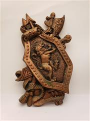 Sale 9034 - Lot 1007A - Bronze Effect Wall Mount Coat of Arms (h:50cm)