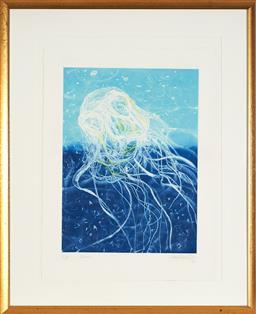 Sale 9130S - Lot 80 - Frank Hodgkinson (1919 - 2001) - Chinorex, 1997 60.5 x 44.5 cm (frame: 103 x 85 x 3 cm)