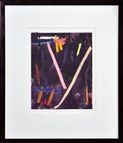 Sale 8415 - Lot 536 - Michael Johnson (1938 - ) - Collins Street #4, 1987 24 x 19cm (frame size: 45 x 38.5cm)