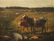 Sale 8597 - Lot 538 - Wilhelm Zillen (1824 - 1870) - Landscape with Cattle, 1864 36 x 46cm