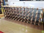 Sale 8620 - Lot 1101 - Timber & Metal Wine Rack