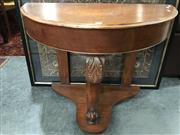 Sale 8809 - Lot 1084 - Demilune Hall Table