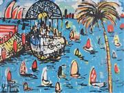 Sale 8880A - Lot 5057 - Yosi Messiah (1964 - ) - Morning Blue 75 x 100 cm