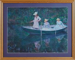 Sale 9098H - Lot 91 - Three Impressionist prints, largest 68cm x 80cm