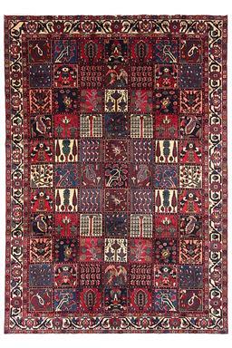 Sale 9141C - Lot 25 - Persian Fine Bakhtiar Garden Design RuG, 220x315cm, Handspun Wool
