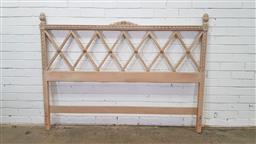 Sale 9157 - Lot 1012 - Timber white wash bedhead (h:120 x w:161cm)