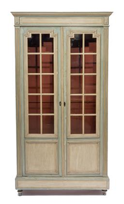 Sale 9200P - Lot 77 - A painted French style bookcase, Height 193cm x Width 96cm Depth 33cm