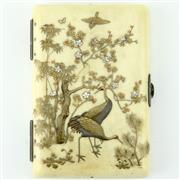 Sale 8332 - Lot 71 - Meiji Ivory Shibayama Notebook