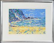Sale 8347A - Lot 83 - Yvonne Terkildsen (active 1980s - 2000s) - Along the Beach, 1993 48 x 70cm