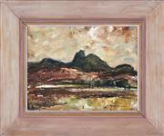 Sale 8358 - Lot 506 - George Feather Lawrence (1901 - 1981) - Races near Murwillumbah, c1950s 20 x 24cm