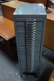 Sale 8550 - Lot 1038 - 1960s Metal Specimen Chest