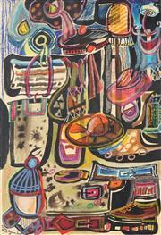 Sale 8789 - Lot 2038 - Barbara Blakemore-Fowler (1921 - 2004) - Options, 1992 41 x 29cm
