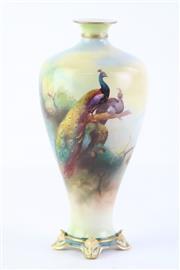 Sale 8810 - Lot 32 - Royal Worcester Bud Vase, Signed (Height: 21cm)