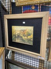 Sale 8927 - Lot 2049 - Artist Unknown - Country Street Scene, 44 x 51 cm, unsigned,