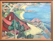 Sale 8994H - Lot 59 - Sydney Modern School, circa 1930 - Balmoral beach note: frame not included