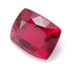 Sale 9107J - Lot 380 - AN UNSET 18.08CT SYNTHETIC RUBY; long cushion cut 16.30 x 13.21 x 8.31mm.