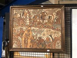 Sale 9152 - Lot 2047 - Balinese School Deities: pigment on fabric, frame: 55 x 65 cm -