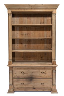 Sale 9200P - Lot 78 - A Baltic pine open dresser/bookcase, Height 240cm x Width 138cm Depth 49cm