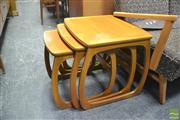 Sale 8338 - Lot 1022 - Nathan Teak Nest of Three Tables