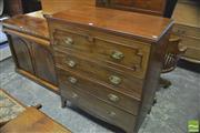 Sale 8390 - Lot 1053 - A Regency Mahogany Secretaire fall front enclosing fitted interior and 3 drawers below on splayed bracket feet