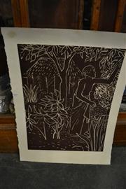 Sale 8453 - Lot 2089 - Ray Crooke (1922 - 2015) - Gathering 60.5 x 45cm