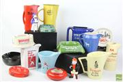 Sale 8477 - Lot 5 - Alcohol Collectors Jugs and Ashtrays inc Suntory Whiskey Corubra Rum and Others