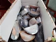 Sale 8480 - Lot 1064 - Box of Natural Base Cut Polished Agate