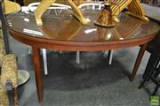 Sale 8523 - Lot 1083 - Retro Oval table
