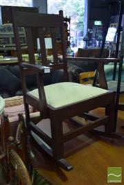 Sale 8545 - Lot 1080 - Oak Rocking Chair