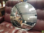 Sale 8593 - Lot 1068 - round form mirror round wall mount mirror