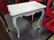 Sale 8601 - Lot 1133 - Whitewash Timber Side Table