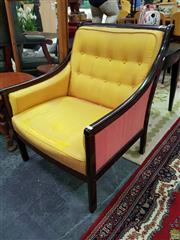 Sale 8629 - Lot 1097 - Norwegian Timber Framed Armchair