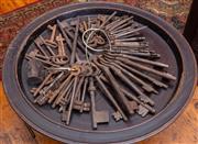 Sale 8625A - Lot 100 - A large quantity of antique keys, various sizes.
