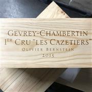 Sale 8825 - Lot 754 - 6x 2015 Olivier Bernstein Les Cazetiers, 1er Cru, Gevrey-Chambertin - original timber box