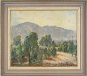 Sale 8853 - Lot 2005 - Garrett Kingsley (1915 - 1982) - Peaceful Scene at Springwood, 1975 49.5 x 59.5cm