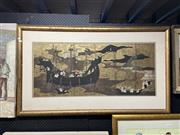 Sale 8888 - Lot 2073 - Decorative Print depicting Foreigners in C17th Japan