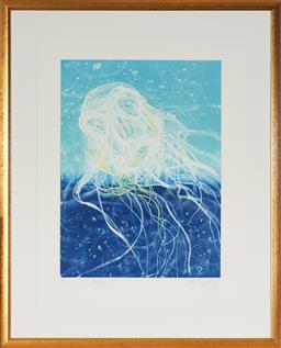 Sale 9130S - Lot 78 - Frank Hodgkinson (1919 - 2001) - Chinorex, 1997 60.5 x 44.5 cm (frame: 98 x 79 x 3 cm)
