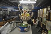 Sale 8304 - Lot 81 - Kangxi Style Bowl (Damaged), Capodimonte Vase & Two Chinese Bowls