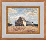 Sale 8363 - Lot 510 - George Feather Lawrence (1901 - 1981) - Farm Buildings, c1948 25 x 30cm