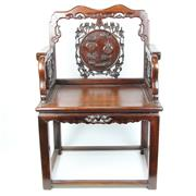 Sale 8396 - Lot 67 - Finely Carved Rosewood Chair