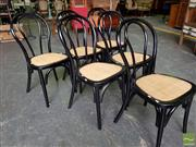 Sale 8480 - Lot 1146 - Set of 6 Black Bentwood Stackable Chairs