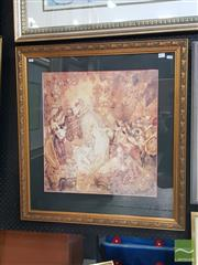 Sale 8548 - Lot 2011 - Norman Lindsay Where War Ends, decorative print, 83 x 78cm (frame size), Bloomfield Galleries label verso