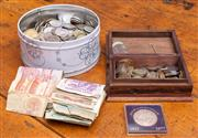Sale 8625A - Lot 101 - A large quantity of world notes and coins, and a boxed Queen Silver Jubilee 25 Rupees (Seychelles).