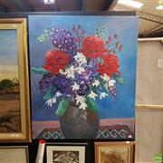 Sale 8636 - Lot 2020 - Suzanne G - Australian Native Plants Acrylic on canvas SLL  107 x 91 cm