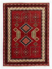 Sale 8770C - Lot 102 - An Afghan Kazak Geometric Design 100% Wool And Natural Dyes, 235 x 179cm