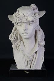 Sale 8905S - Lot 689 - After Austen production, composite of a lady with hat. Height 54cm